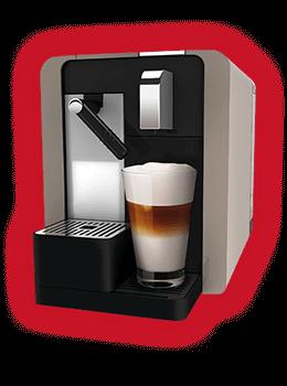 Кофемашина Cremesso Caffe Latte Titan Silver, Burgundu Red